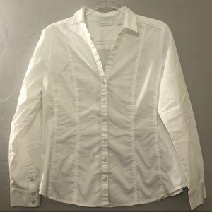 New York & Company White Dress Shirt GUC
